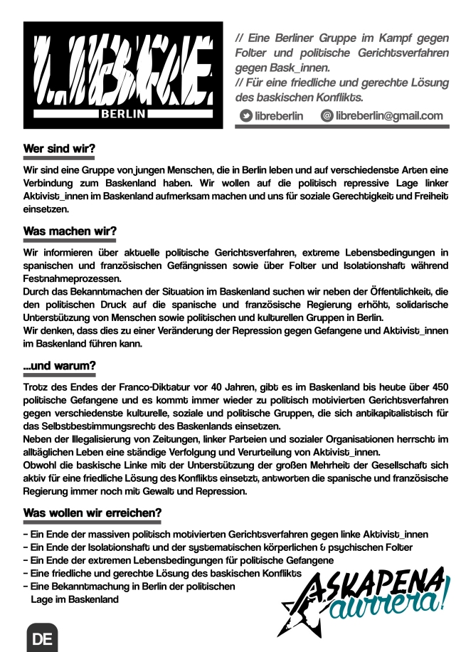 Flyer Libre Berlin DE